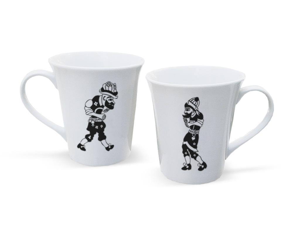 Hacıvat - Karagöz Porselen kupa